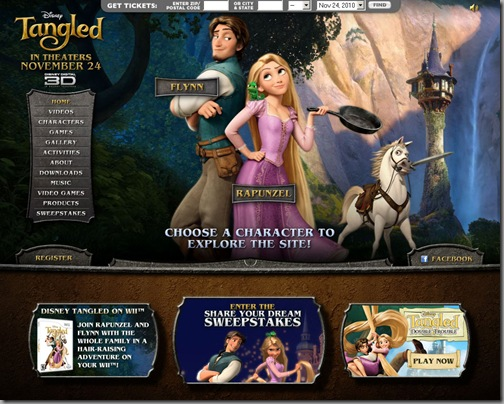 rapunzel : a tangled tale website