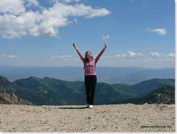 Top of the world, girl!