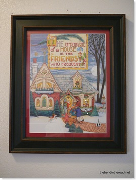 Mary E calendar print with a 3 dollar mat and a frame