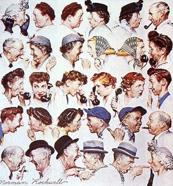 Norman Rockwell The Gossips 2