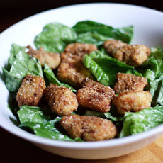 Dinner Tonight: Caesar Salad with Catfish Croutons