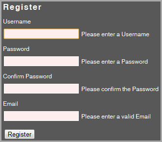 RegisterClientValidation