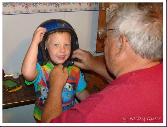 10-11-10 Try on helmet 1