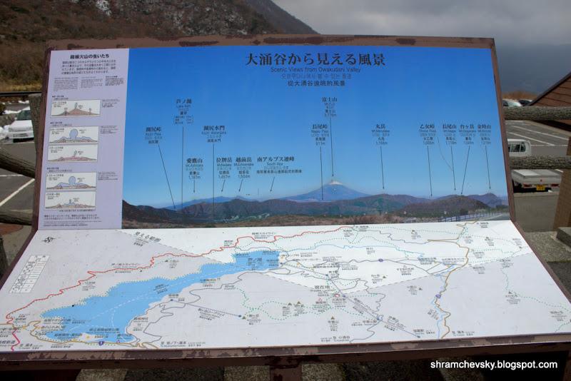 Japan Mount Fuji Hakone Owakudani Scheme Япония Фудзияма Фуджи Фудзи Хаконе Овакудани Схема