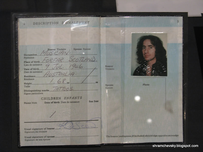 AC DC Bon Scott Passport ЭйСиДиСи Паспорт Бона Скотта
