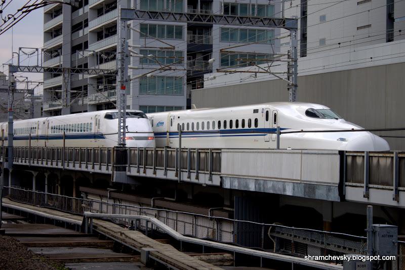 Japan Bullet Train Shinkansen 500 series N700 Япония поезд пуля шинкансен синкансен 500 Н700