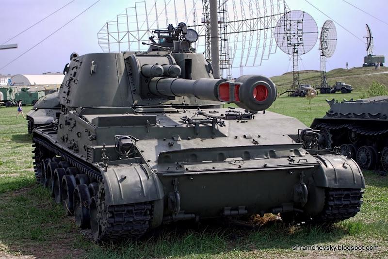 Russian Soviet 152 mm self-propelled howitzer 2C3 Akatsiya Русская Советская 2С3 Акация СУ-152 152-мм самоходная артиллерийская установка Технический Музей Тольятти