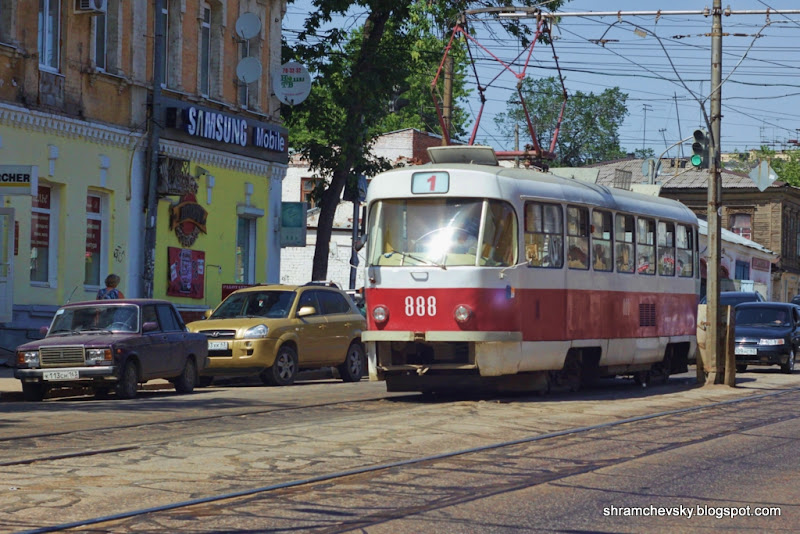 Самара Трамвай 888 маршрут 1 троицкий рынок
