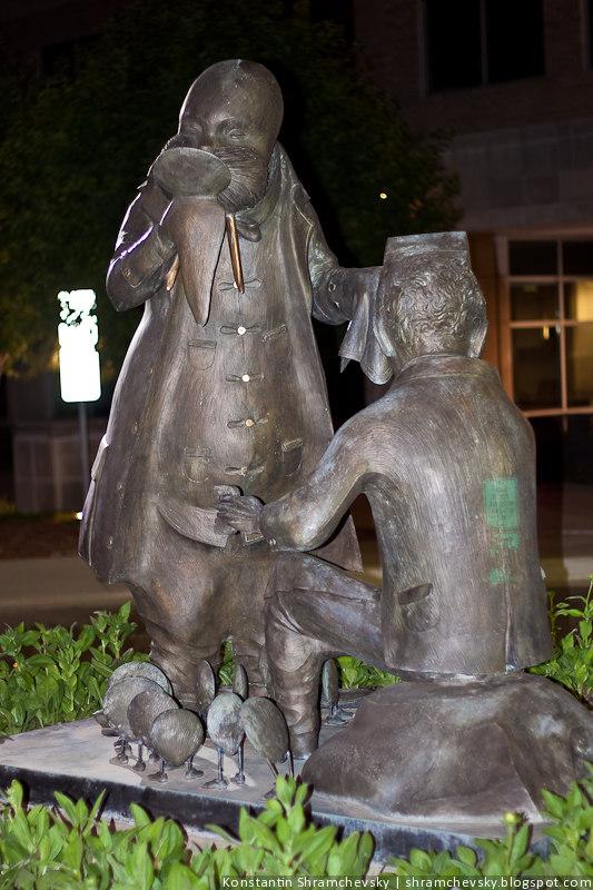 Englewood Fiddler's green circle sculpture