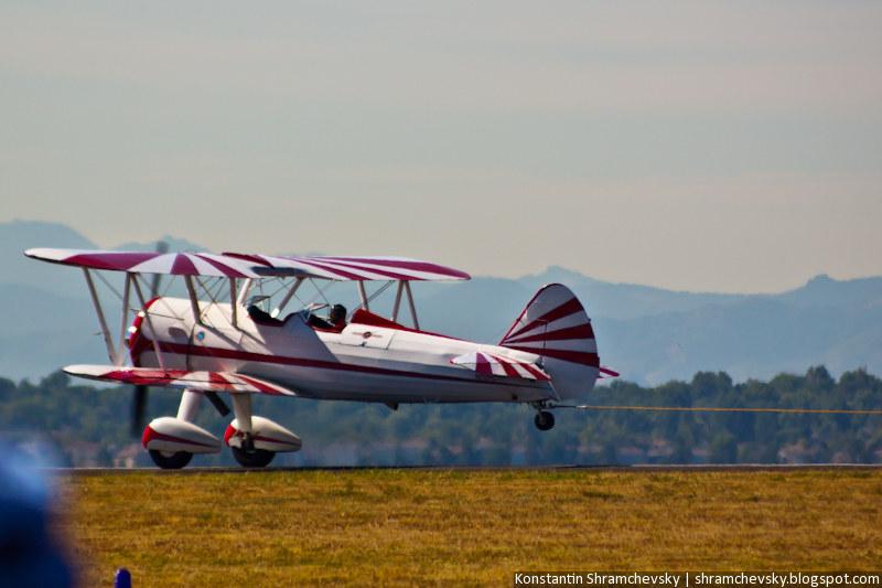 USA Colorado Airshow Biplane aircraft Биплан Самолет