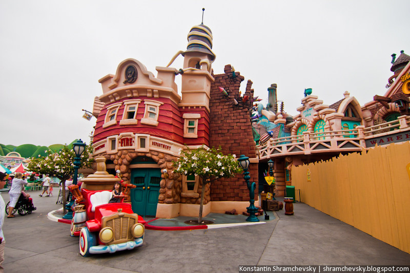 USA California Disneyland Anaheim Adventure Park Toon Town США Калифорния Диснейленд Анахайм Парк Тун Мульт Таун