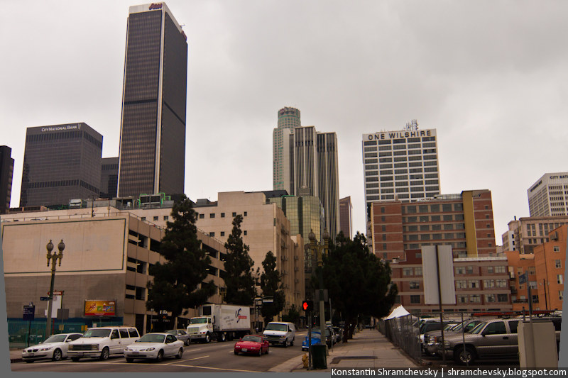 USA California Los Angeles Downtown США Калифорния Лос-Анджелес Центр Даунтаун