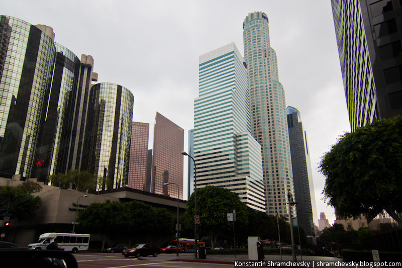 USA California Los Angeles Downtown Citigroup US Bank Tower США Калифорния Лос-Анджелес Центр Даунтаун Ситигруп СШ Банк Башня