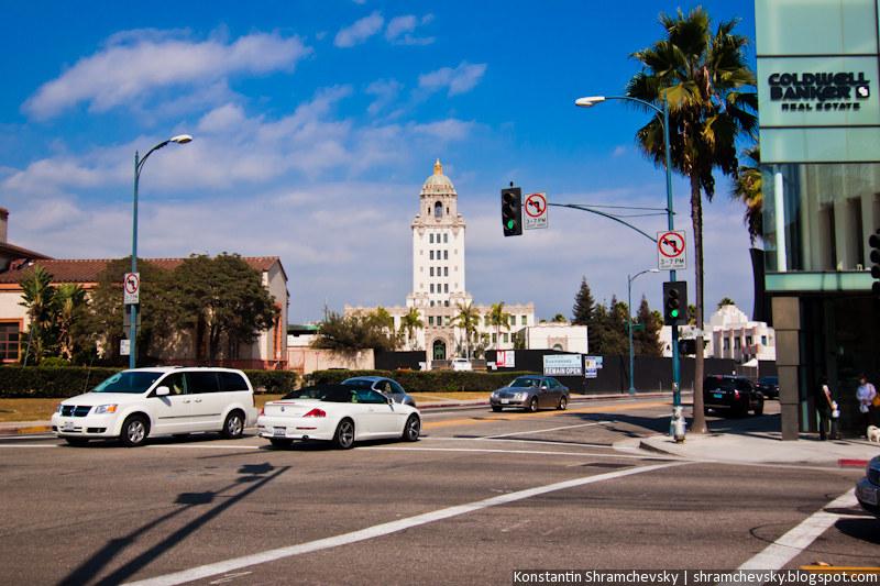 USA California Los Angeles Beverly Hills Rodeo Drive США Калифорния Лос Анджелес Беверли Хиллз Родео Драйв