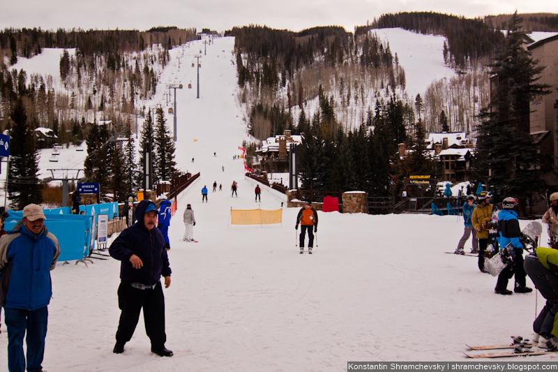 USA Colorado Vail Ski Resort США Колорадо Вэйл Горы Лыжный Курорт