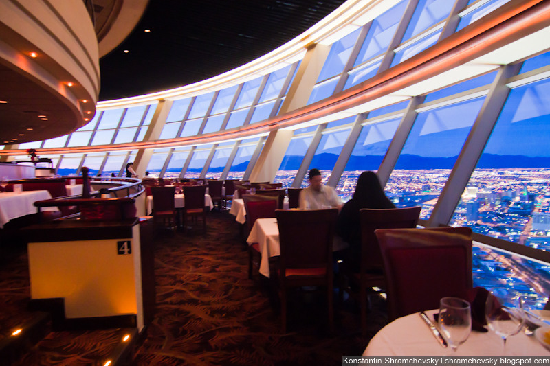 USA Nevada Las Vegas Stratosphere Tower Restaurant США Невада Лас Вегас башня Стратосфера Ресторан