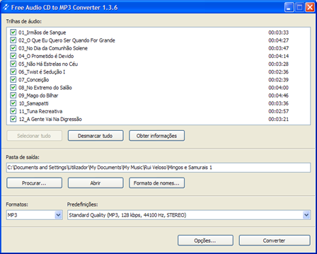 Free Audio CD to mp3 converter 2