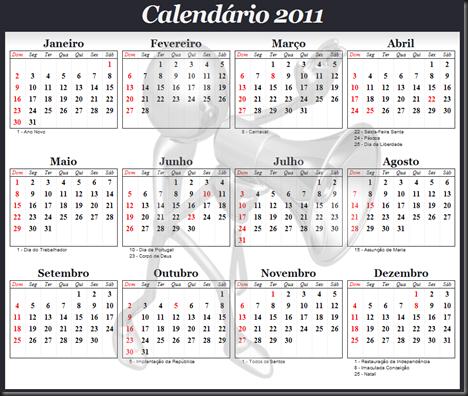 Calendário 2011 PT - Produtor