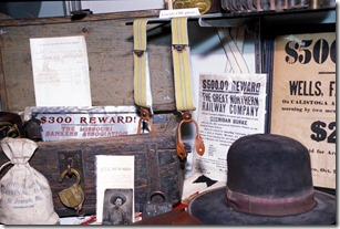 ST. JOSEPH, Mo. - Old west memorabilia on display in a case at the Patee House Museum in St. Joseph, Mo.