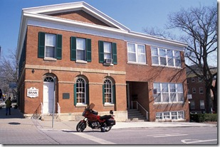 LIBERTY, Mo. - The Jesse James Bank Museum on the northeast corner of the courthouse square in Liberty, Mo. This two-story brick building was once the Clay County Savings Association Bank and, on Feb. 13, 1866, was the scene of the first peacetime daylight bank robbery in U.S. history when it was robbed of $62,000 in cash, bonds and government stamps by the James Gang.