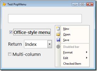 Office PopMenu