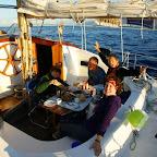 Erstes Frühstück auf See