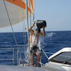 Skipper Joachim wäscht sich
