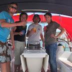 Prost! und der erste Schluck der grossen Reise geht über Bord für den Neptun