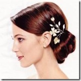 Wedding Hair with floral clip