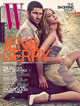 Jennifer Aniston and Gerard Butler W magazine picture