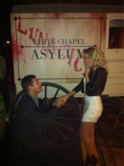 Eddie Cibrian popped the question to  LeAnn Rimes on Halloween Twitter photo