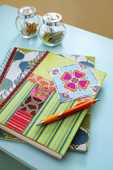 Capas de caderno em tecido