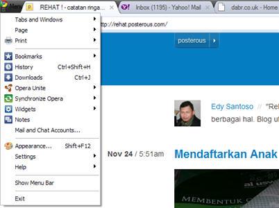 Opera dengan tampilan Chrome : terasa cepat ?