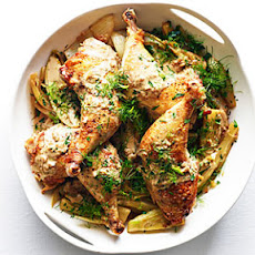 Quick-Braised Chicken with Caramelized Fennel and Endive