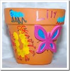 painted flowerpot