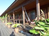 """La """"terrasse"""" de notre hôtel de plongée"""
