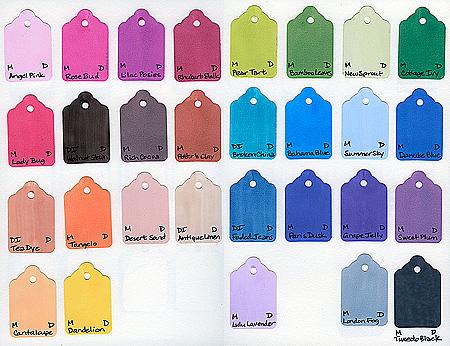 Dye Inks as of 10/24/2008