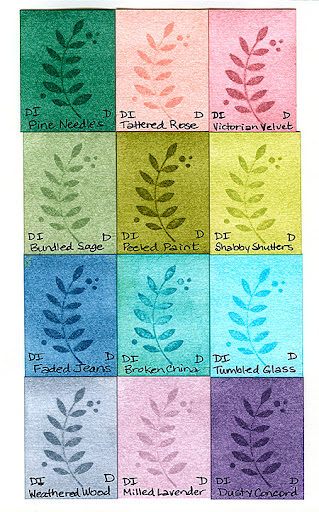 Distress Inks on Watercolor Paper - Part 1