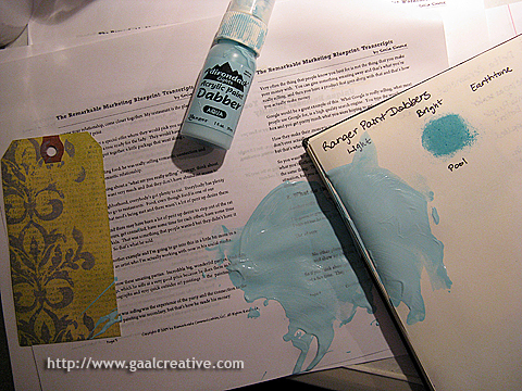 The paint on my desk AFTER I'd cleaned most of it up!