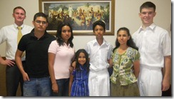 David with baptizee's family and Elder Wardlow