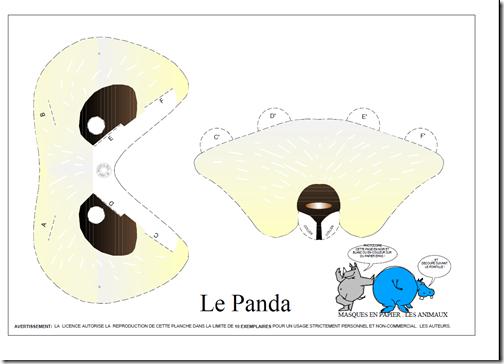 Máscara de oso panda para imprimir y usar - Nos disfrazamos