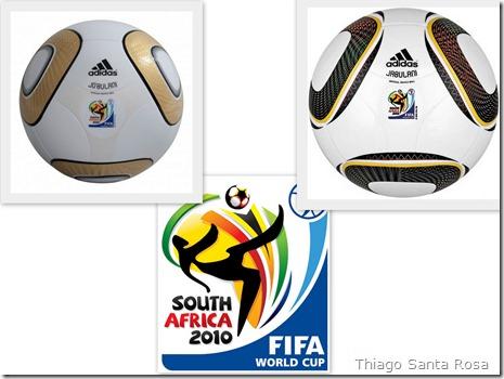 As duas bolas da Copa do Mundo lado a lado - Jo'bulani, que será usada somente na final, e a Jabulani.