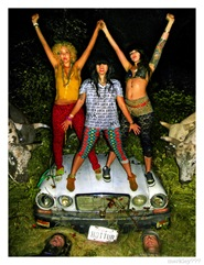 Hotttub - Post Fabulosa Fest Wictory Portrait on a Brush Overgrown, Hot Dog Blinkered Jaguar with Four Bulls, Two Fake Dead Producers, a Whiskey Coke and a Bit of Hose at The Edge of a Field in Guernsville CA