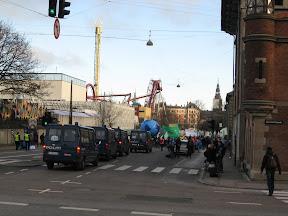 Copenhagen Police Follow Climate Marchers