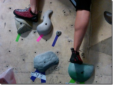 climbing feet
