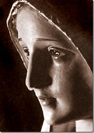 Weeping Fatima Statue