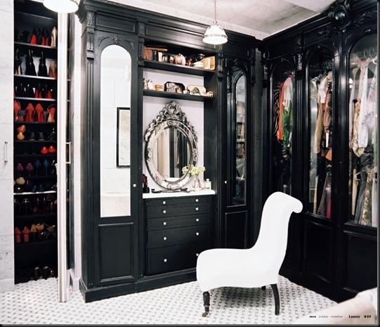 vestidor negro espejo veneciano con ba%C3%B1era marmol