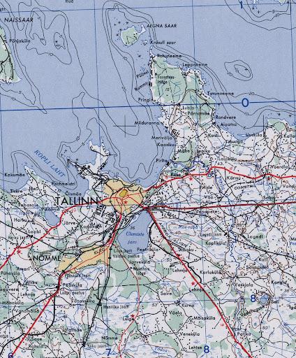 Tallinn Maps US Army Map of Tallinn 1953