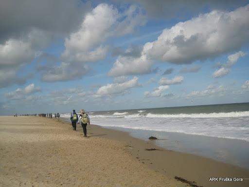 plaža, a hladno vreme...