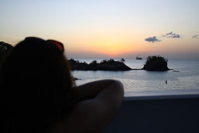 Partida no pôr-do-sol em St. Lucia... ainda na minha eterna busca pela foto perfeita.